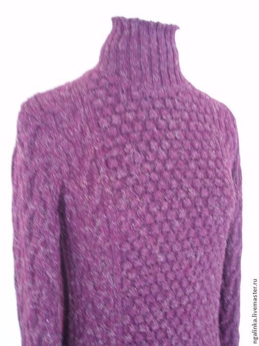 Кофты и свитера ручной работы. Ярмарка Мастеров - ручная работа. Купить свитер из твида Спелая малина. Handmade. Бордовый