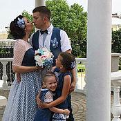Одежда ручной работы. Ярмарка Мастеров - ручная работа family look Джинсовая свадьба. Handmade.