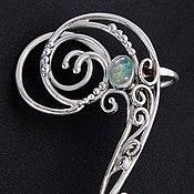 Украшения handmade. Livemaster - original item Cuff with opal and silver. Handmade.
