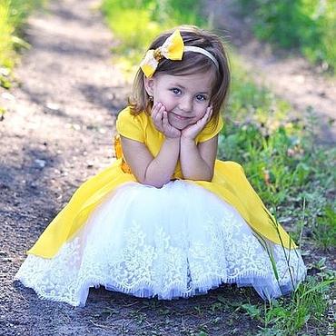 """Работы для детей, ручной работы. Ярмарка Мастеров - ручная работа Пышное платье для девочки """"Бэлль"""". Handmade."""