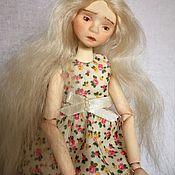 Шарнирная кукла ручной работы. Ярмарка Мастеров - ручная работа Шарнирная кукла Манечка (флюмо, bjd). Handmade.