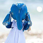 Куклы и игрушки ручной работы. Ярмарка Мастеров - ручная работа Слоня Тедди + Яхта дрифтвуд морской комплект. Handmade.