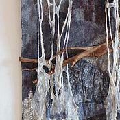Для дома и интерьера handmade. Livemaster - original item Panel made of felt, with a branch.. Handmade.