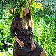 Dress dark green below the knee with a belt. Dresses. ivavavilonskaya. My Livemaster. Фото №4