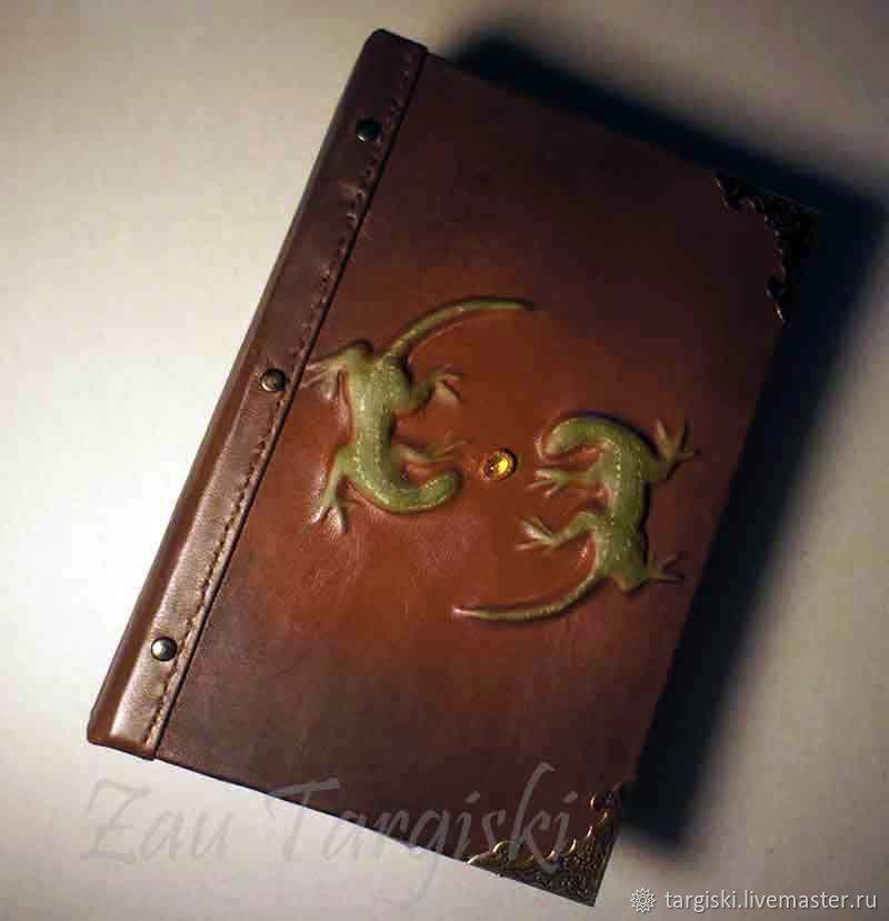 Книга для записей с ящерицами и цитрином, Блокноты, Москва,  Фото №1