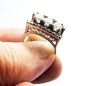 """Украшения ручной работы. Ярмарка Мастеров - ручная работа серебряное кольцо ручной работы 925 пробы ,позолота  """"Весна"""". Handmade."""