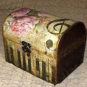 Для дома и интерьера ручной работы. Ярмарка Мастеров - ручная работа Сундучок для женских сокровищ. Handmade.