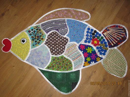 Развивающие игрушки ручной работы. Ярмарка Мастеров - ручная работа. Купить массажный коврик рыбка. Handmade. Комбинированный, для детей, пластик