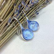 Украшения handmade. Livemaster - original item Blue skies earrings lampwork. Handmade.