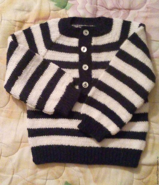 """Одежда для мальчиков, ручной работы. Ярмарка Мастеров - ручная работа. Купить Вязаный детский свитер  """"Морячок"""". Handmade. Тёмно-синий"""