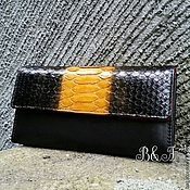 Сумки и аксессуары handmade. Livemaster - original item Wallet genuine Python skin and llamas. Handmade.