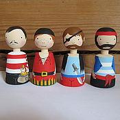 Куклы и игрушки ручной работы. Ярмарка Мастеров - ручная работа пираты. Handmade.