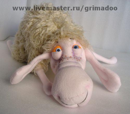 Игрушки животные, ручной работы. Ярмарка Мастеров - ручная работа. Купить Овца. Handmade. Белый