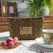 Винтаж handmade. Livemaster - original item A tin box for cookies by Georges Bormann, before 1917. Handmade.