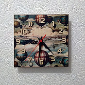 Для дома и интерьера handmade. Livemaster - original item Wall clock in the children`s room