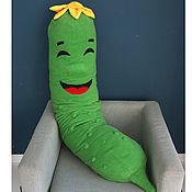Для дома и интерьера handmade. Livemaster - original item Huge Cucumber Pillow, Anti-stress Hug pillow, Toy Pillow. Handmade.