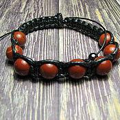 handmade. Livemaster - original item Shambhala bracelet with red jasper