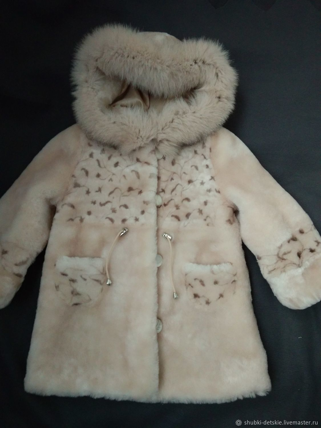 5421ea5af0f0 Clothes for Girls handmade. Livemaster - handmade. Buy Children's fur coat  with a hood ...