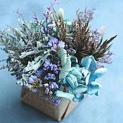 Композиции ручной работы. Ярмарка Мастеров - ручная работа Зимняя задумчивая (композиция из сухоцветов). Handmade.