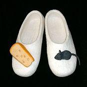 """Обувь ручной работы. Ярмарка Мастеров - ручная работа Тапочки """"Мышь и сыр"""". Handmade."""