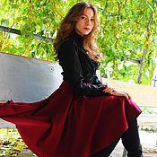 """Одежда ручной работы. Ярмарка Мастеров - ручная работа Солнце-клеш """"Бардо"""", теплая юбка. Handmade."""