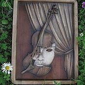 Картины и панно ручной работы. Ярмарка Мастеров - ручная работа Резное дерево_Струны Души. Handmade.