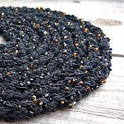 Украшения handmade. Livemaster - original item Beads Scarf Long Knitted Braided Lariat Choker Belt Bracelet Black. Handmade.
