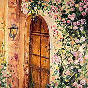 Картины и панно handmade. Livemaster - original item Oil painting on canvas. Secret garden. Roses. Painting with flowers. Handmade.