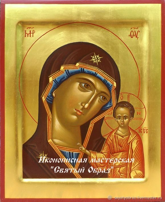 The Icon Of The Virgin Kazanskaya. Handwritten icons. Icons for a wedding. gold, Icons, Krasnodar,  Фото №1