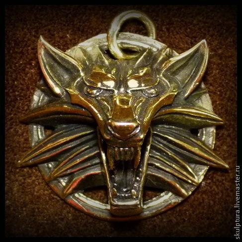 """Подарки для мужчин, ручной работы. Ярмарка Мастеров - ручная работа. Купить Кулон """"Ведьмак"""" бронза. Handmade. Золотой, кулон ведьмак"""