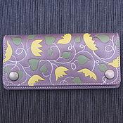 Сумки и аксессуары handmade. Livemaster - original item FLORAL leather purse. Handmade.