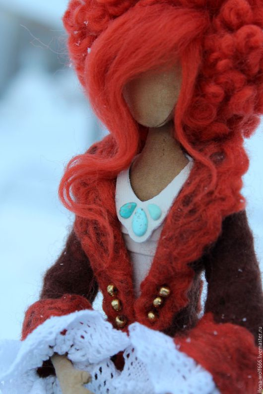"""Коллекционные куклы ручной работы. Ярмарка Мастеров - ручная работа. Купить """"Лили"""". Handmade. Ярко-красный, чердачная кукла"""