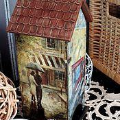 """Домики ручной работы. Ярмарка Мастеров - ручная работа Чайный домик """"Париж"""" (декупаж). Handmade."""