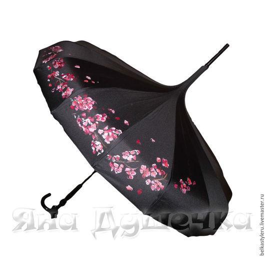 зонт-трость Пагода с рисунком