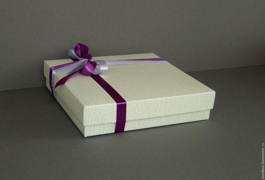 Упаковка ручной работы. Ярмарка Мастеров - ручная работа. Купить Коробки 18x18x4 cм подарочные. Handmade. Белый, коробки