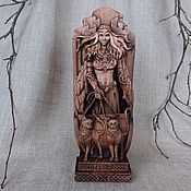 Для дома и интерьера handmade. Livemaster - original item Wood figurine of Freya, the Norse Goddess. Handmade.