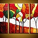 """Пейзаж ручной работы. Ярмарка Мастеров - ручная работа. Купить Триптих """"Золотая осень"""" №2. Handmade. Разноцветный, золотая осень"""