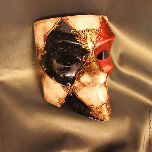 Интерьерные  маски ручной работы. Ярмарка Мастеров - ручная работа. Купить Маска венецианская Баута Классико (костюмная). Handmade. Декор
