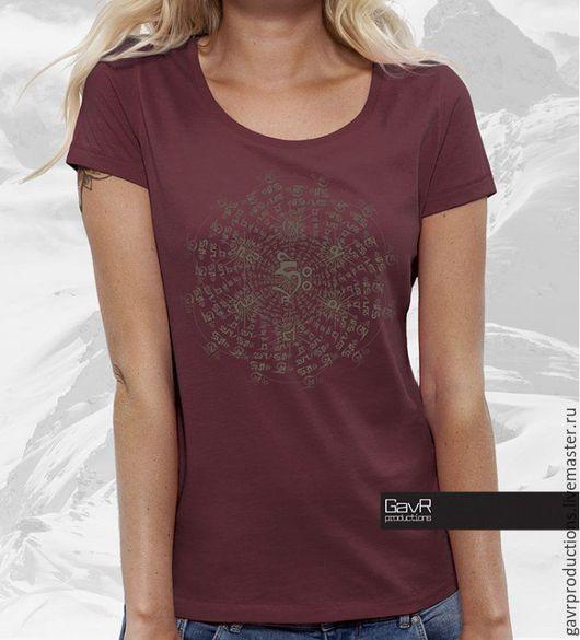 Женская футболка OM MANI PADME HUM