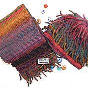 Аксессуары ручной работы. Ярмарка Мастеров - ручная работа Вязаный комплект шапка-крейзи и шарф. Handmade.