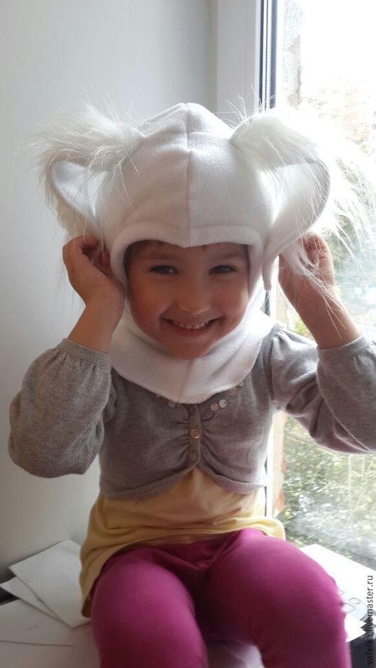 """Шапки и шарфы ручной работы. Ярмарка Мастеров - ручная работа. Купить Шапка-шлем  """" Белый кролик"""" от 0 до 6 лет. Handmade."""
