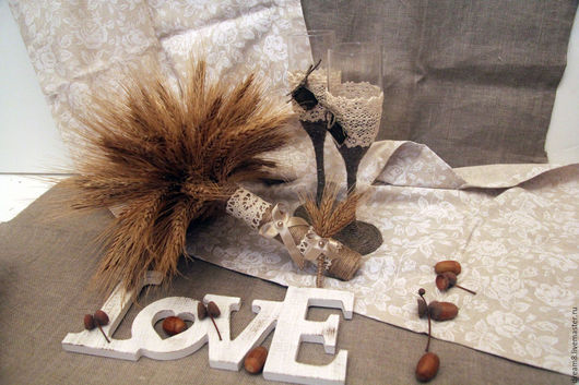 """Свадебные цветы ручной работы. Ярмарка Мастеров - ручная работа. Купить Букет для невесты """"Осень в твоих руках"""". Handmade. Бежевый"""