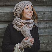 """Аксессуары ручной работы. Ярмарка Мастеров - ручная работа Комплект шапка и шарф """"Холодало... Handmade."""
