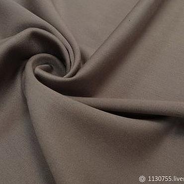 Материалы для творчества ручной работы. Ярмарка Мастеров - ручная работа ткань костюмная вискоза  сатин песочный. Handmade.