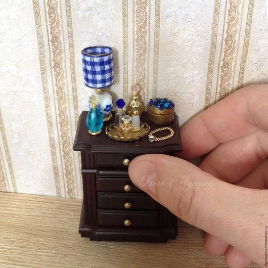 Миниатюра ручной работы. Ярмарка Мастеров - ручная работа. Купить Дамский набор синий. Handmade. Синий, стекло