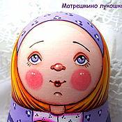 Русский стиль ручной работы. Ярмарка Мастеров - ручная работа Сиреневая девочка. Матрешка 5-ти местная. Handmade.