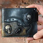 Сумки и аксессуары handmade. Livemaster - original item Purse, purse, wallet with skulls. Gift to man.. Handmade.
