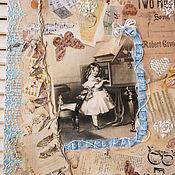 """Картины и панно ручной работы. Ярмарка Мастеров - ручная работа Панно""""Дочь музыканта"""". Handmade."""