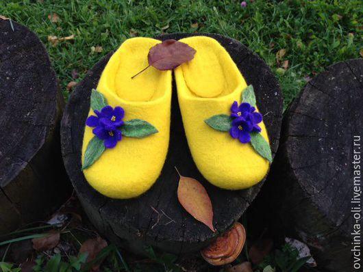 Обувь ручной работы. Ярмарка Мастеров - ручная работа. Купить Тапочки валяные. Handmade. Разноцветный, разные цвета, валяные тапочки