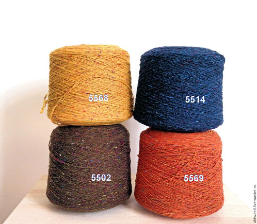Вязание ручной работы. Ярмарка Мастеров - ручная работа. Купить Soft Donegal Tweed -100% меринос. Handmade. Оранжевый, пряжа